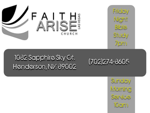 Faith Arise Flyer Front Side Image