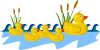 Rubber Duck Family Swimming Clip Art