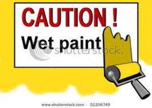 Wet Yellow Paint Image