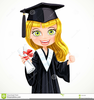 Cap And Gown Diploma Clipart Image