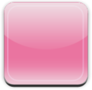 Glass App Button Pink Image