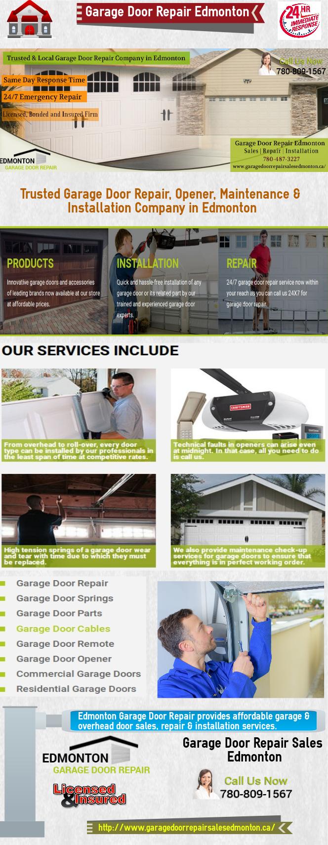 trusted garage door repair opener installation company in