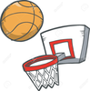 Cartoon Basket Ball Clipart Image
