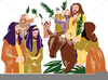 Jesus Rides Into Jerusalem On A Donkey Clipart Image