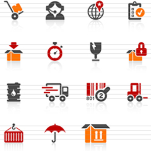 Handling And Logistics Icons Image