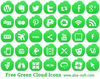 Free Green Cloud Icons Image