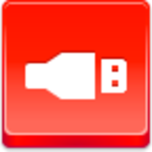 Free Red Button Icons Usb Image