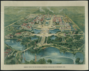 Birdseye View Of The Pan-american Exposition, Buffalo, May 1 To November 1, 1901 Image