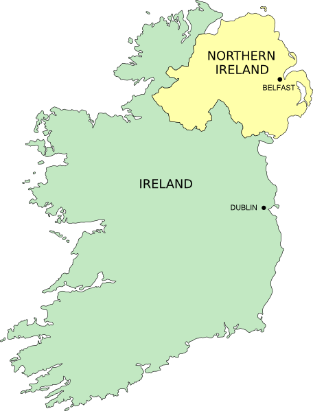 Simple Map Of Ireland.Simple Ireland Map Clip Art At Clker Com Vector Clip Art Online