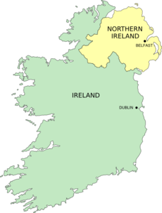 Simple Ireland Map Clip Art