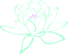 Green Purple Lotus Clip Art