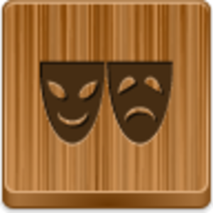 Free Wood Button Theater Symbol Image
