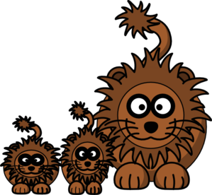 Mom Lion Clip Art