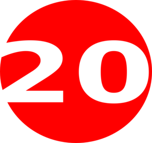 Glossy Red Circle Icon With 20 Clip Art at Clker.com - vector clip on