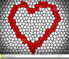Black Love Heart Clipart Image