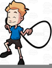 Boy Skipping Clipart Image
