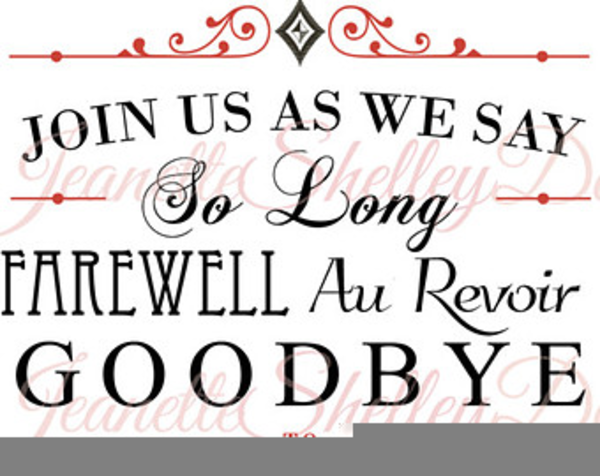 farewell party invitation clipart free images at clker com rh clker com farewell clip art free farewell clip art free images