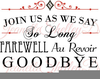 Farewell Party Invitation Clipart Image