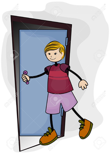Clipart Man Entering Door Free Images At Clker Com