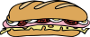Sandwich One Clip Art