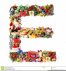 Christmas Letter Decorations Clipart Image