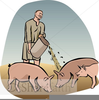 Prodigal Son Feeding Pigs Clipart Image