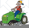 John Deere Riding Mower Clipart Image