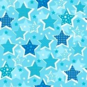 Blue Stars Seamless Repeat Pattern Vector Illustration Image