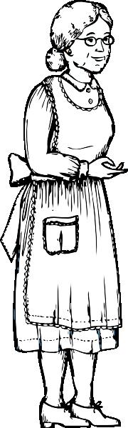Black Grandma Clipart