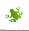Green Frog Clipart Image