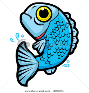 Jumping Cartoon Fish Vector Clip Art Picture Image