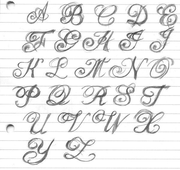 Optimus 5 search image fancy handwriting styles Calligraphy alphabet cursive