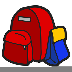 Free Clipart School Backpack Image