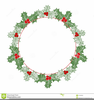 Border Christmas Clipart Holly Image