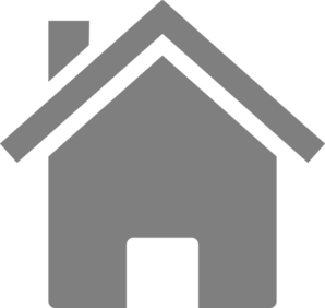 Simple Grey House Clip Art