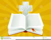 Clipart Open Bible And Cross Image