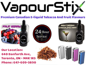 Premium Canadian E Liquid Tobacco And Fruit Flavour Vapour Stix Image
