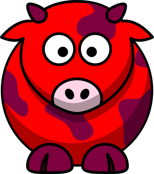 Red Cow 2 Clip Art at Clker.com - vector clip art online, royalty free ...