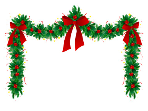 Ist christmas garland free images at clker vector