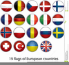 Flags Of European Countries Clipart Image