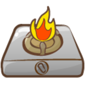 Cooker Fire Icon Image