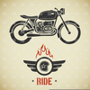 Flames Motorcycle Clipart Image
