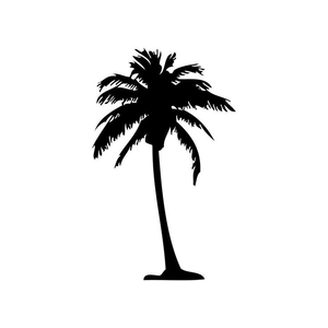 Free Clipart Palm Tree Silhouette Image