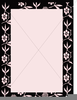 Pink And Black Border Clipart Image