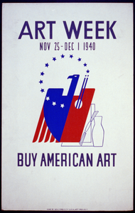Art Week, Nov. 25 - Dec. 1, 1940 Buy American Art. Image