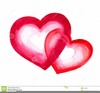 Red Double Heart Clipart Image