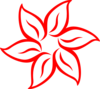 Red Flower Outline Clip Art