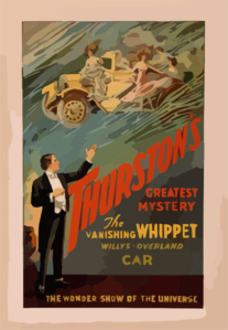Thurston S Greatest Mystery The Vanishing Whippet Willys-overland Car : The Wonder Show Of The Universe. Clip Art