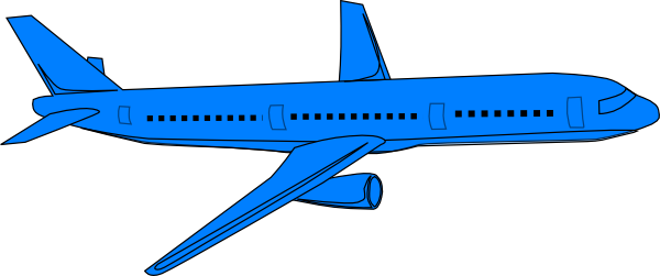 Airplane blue. Pass clip art at