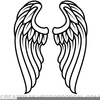 Angel Wings Outline Clipart Image